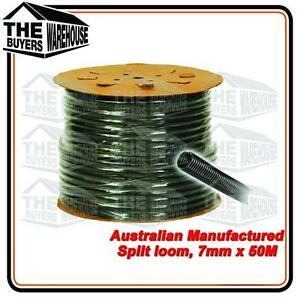 100% Premium Australian Made Split Loom Tubing Wire 7mm Conduit Cable 50m UV ADR