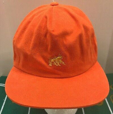 e7ae6dad70c Stussy Zion Lion Logo Baseball Ball Cap Dad Hat StrapBack Orange Men s OSFA  NWT