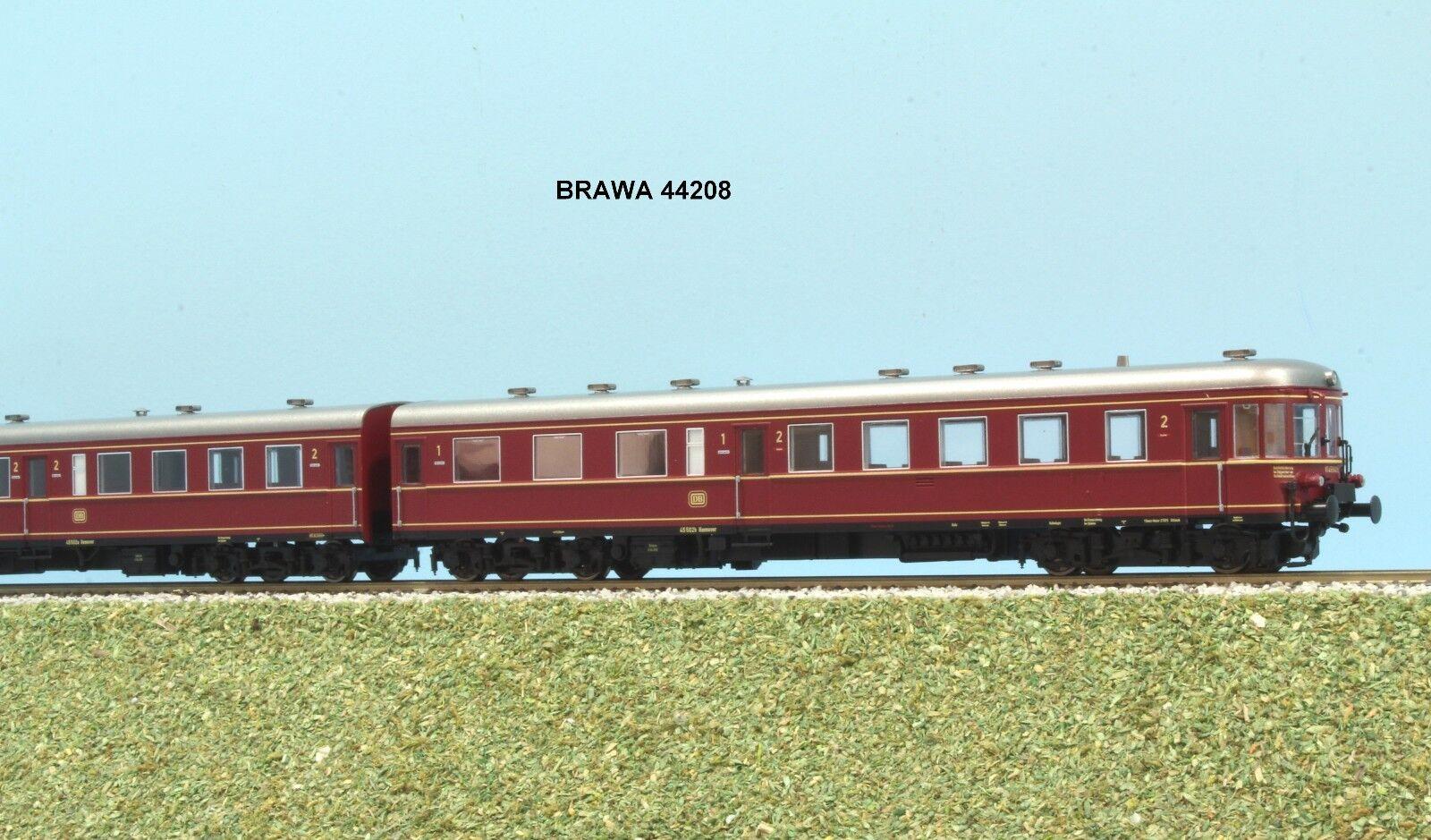 ahorre 60% de descuento BRAWA 44208 DB DB DB autotreno  2 pz  VT 137  STETTIN ep. III livrea bianco e rojo  gran descuento
