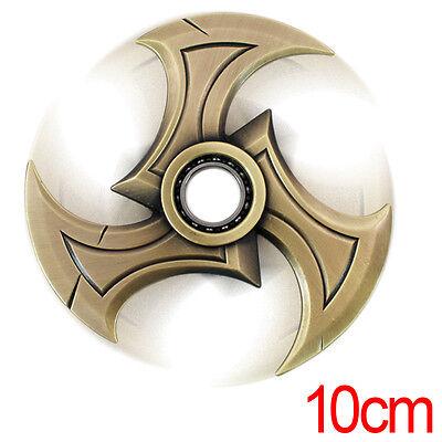Stylish NEW Overwatch Mini Tri Point Gold Silver Shuriken Hand Spinner
