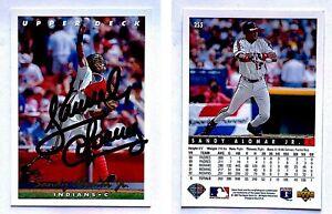 Sandy-Alomar-Jr-Signed-1993-Upper-Deck-255-Card-Cleveland-Indians-Autograph