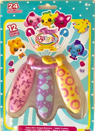 BEBE Bananes-Tropical Hugger crushies collection figurines-Triple Pack