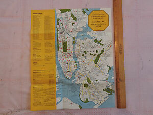 Original Nyc Subway Map.Details About Rare Original Map 1956 Nyc New York City Nyc Brooklyn Subway Map Irt Bmt Ind