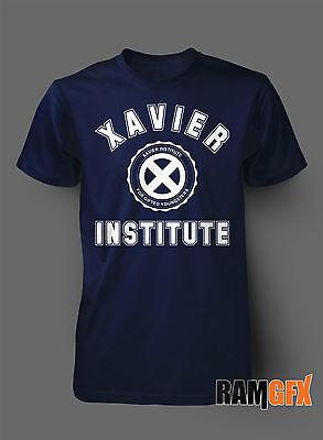 BNWT XAVIER INSTITUTE X MEN MARVEL UNIVERSE  ADULT T SHIRT S-XXL PERSONALISED