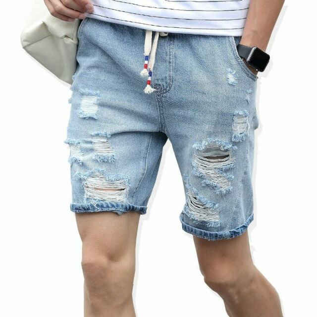 Nueva Moda De Ocio Pantalones Vaqueros Cortos Rasgados Para Hombres Ropa De Ebay