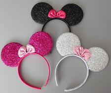 3 x Minnie mouse ears hairband fancy dress party hen night 3 glitter colours