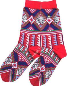 Vivienne Westwood Japan Women's Socks Ethnic +Orb Embroidered-Size 23-24cm