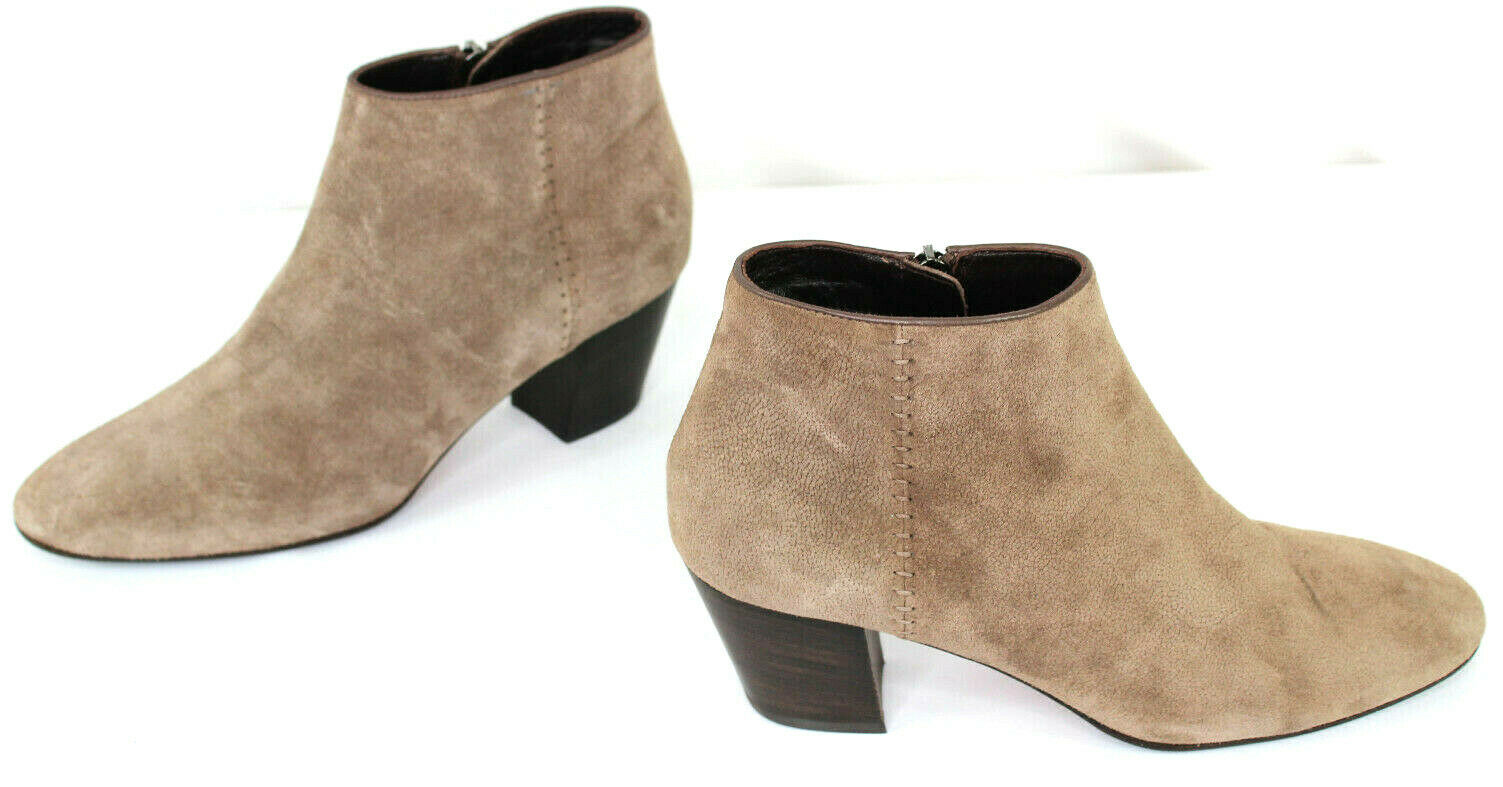 NWOB Aquatalia Suede Medium Heel Ankle Stiefelies braun Taupe Made In  Größe 10