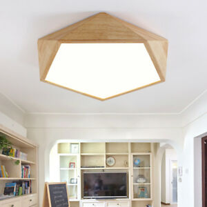 Details about LED Wood Ceiling Lamp Bedroom Light Chandelier Dimming  Ceiling Lighting Fixtures