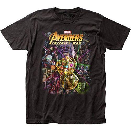 Marvel Comics Book Character Collage The Avengers Infinity War Tee Shirt Black