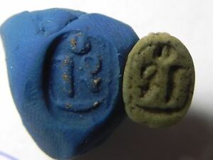 Ancient Egypt af924 New Kingdom Faience Scarab Zurqieh 1400 B.c