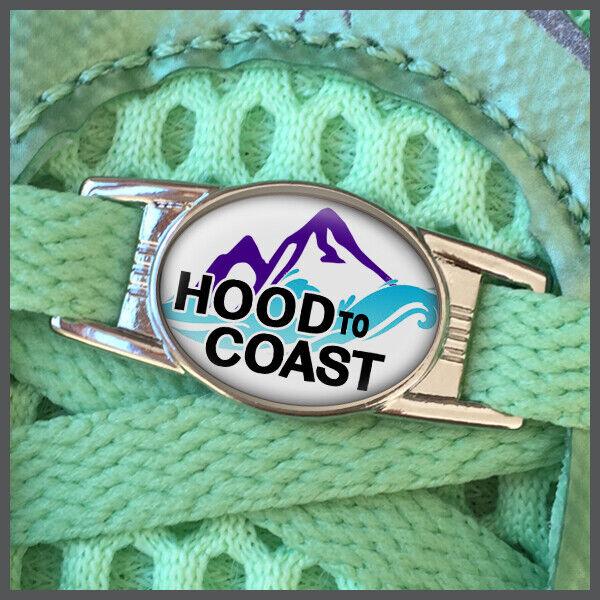 Hood to Coast Ultra Ultramarathon Runners Shoelace Shoe Charm or Zipper Pull