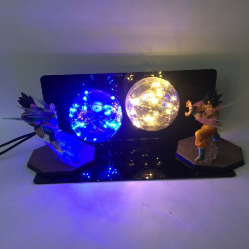 Dragon BALL Z GOKU vs Vegeta luci led notturna LAMPADA ANIME Action Figure Giocattolo