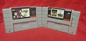 NBA 97 + Showdown Basketball Lot Authentic Super Nintendo SNES Game Works Tested