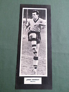 promo code b3136 d70d9 Details about JIMMY MURRAY- WOLVERHAMPTON WANDERERS-1 HALF PAGE PICTURE-  BOOK CLIPPING/CUTTING