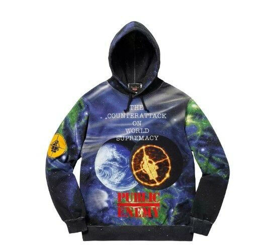 Men S Supreme Undercover Public Enemy Hooded Sweatshirt Hoo Large Ss18 For Online