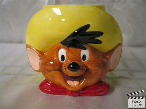 Looney Tunes; Applause NEW Speedy Gonzales ceramic figural mug