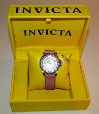 Invicta Pro-Diver Sapphire Crystal Pink MOP Women's Watch w/New Battery Case