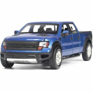 1-32-Ford-Raptor-F-150-Pickup-LKW-Die-Cast-Modellauto-Auto-Spielzeug-Kinder-Blau