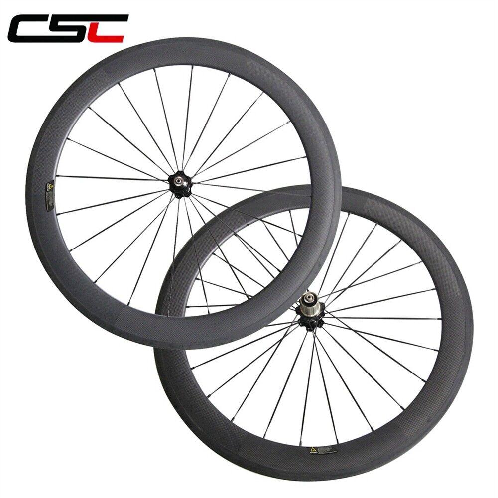 CSC 25mm Width U shape 60mm Tubular carbon fibre road.racing bicycle wheelset