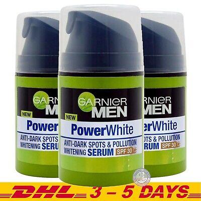 Garnier Men Power White Anti Dark Spots Whitening Serum Spf30 40ml X 3 8992304056802 Ebay