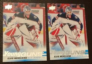 2019-20-UD-Series-2-ELVIS-MERZLIKINS-Lot-Of-2-Young-Guns-Rookie-Card-RC-466