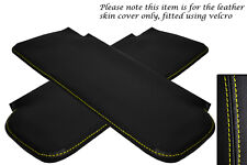 YELLOW STITCHING FITS CORVETTE 1968-1976 2X SUN VISORS LEATHER COVERS ONLY