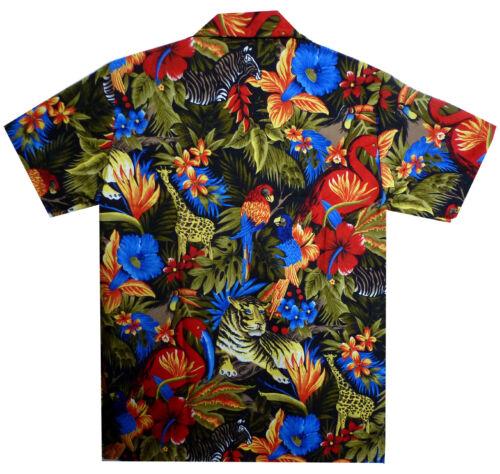 LOUD HAWAIIAN SHIRT FANCY PARTY LEISURE HOLIDAY SUMMER HAWAII ALOHA BLACK XS-2XL