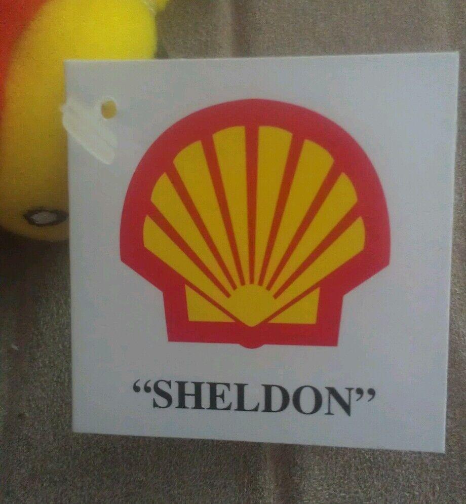 SHELL OIL SHELDON & SHELLY TANKERS BEANBAG PLUSH PLUSH PLUSH SET OF 2 MINT W TAGS 17c487