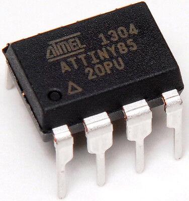 10x NEW ATTiny85-20PU 8-bit ATMEL Microcontroller Dip8 MCU uC - SHIPS FROM USA