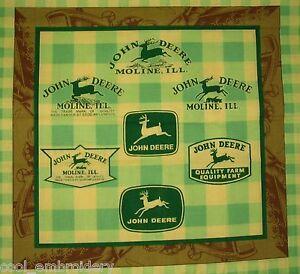 Choose-design-John-Deere-tractors-craft-panel-cotton-quilting-fabric