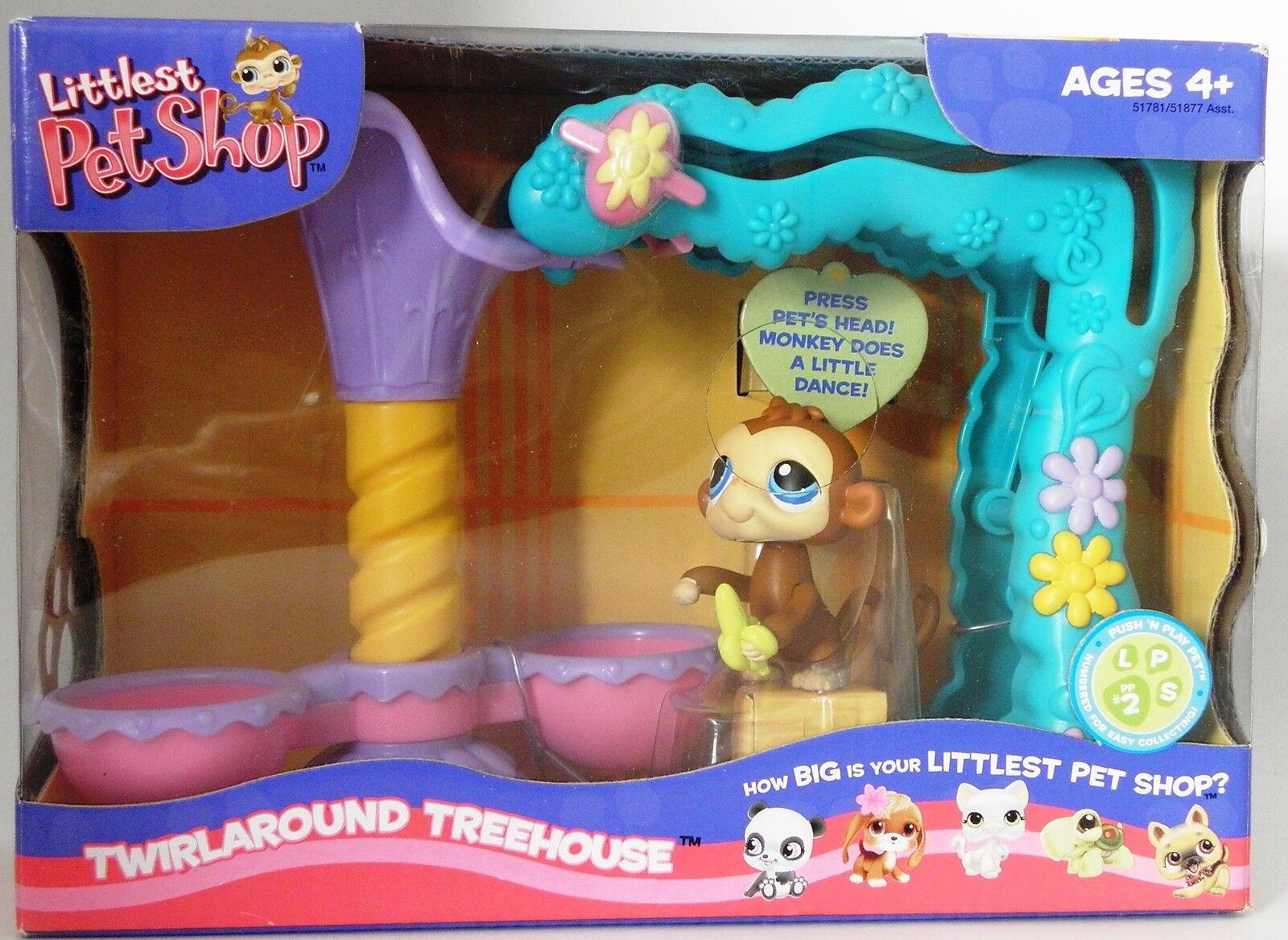Littlest Littlest Littlest Pet Shop push 'n play Monkey twirlaround treehouse e3288f