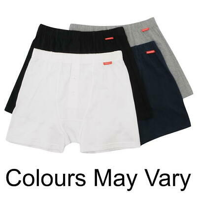 2 X Slazenger Mens Boxers Trunks 100% Cotton X - Small Grey White R672-6