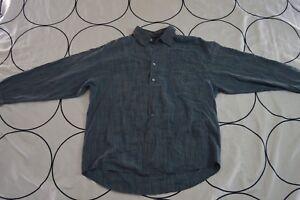 c8833e46306 TOMMY BAHAMA Men s XL Indigo Palms Denim Company Blue Stripe Long ...