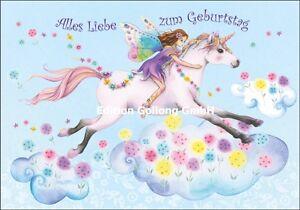 Nina Chen Gluckwunschkarte Geburtstag Einhorn Fee Madchen Pferd