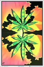 WEED BLACKLIGHT POSTER 23X35 FLOCKED MARIJUANA SMOKING 53032 FUNKY MONKEY