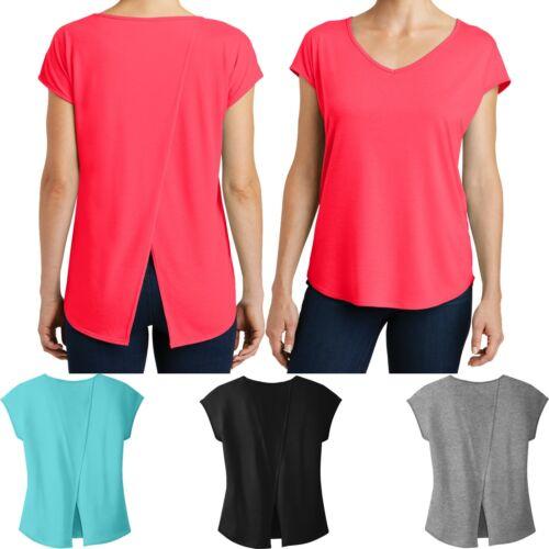 Ladies Plus Size V-Neck T-Shirt Drapey Cross Back Tee Dolman Womens XL 2X 3X 4X