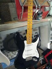 Spectrum 6 String Electric Guitar - Stratocaster-Style Black/White