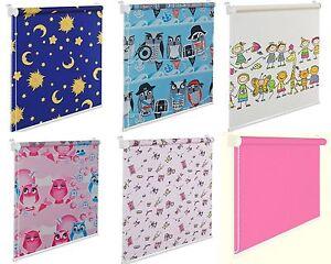 Details Zu Fensterrollo Kinderzimmer Pink Blau Sterne Eule Kinderrollo Kinderfensterrollo