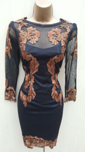 Bronze Baroque Dress New Year Overlay Party 10 ricamato Millen Black Karen qaH1wtgg