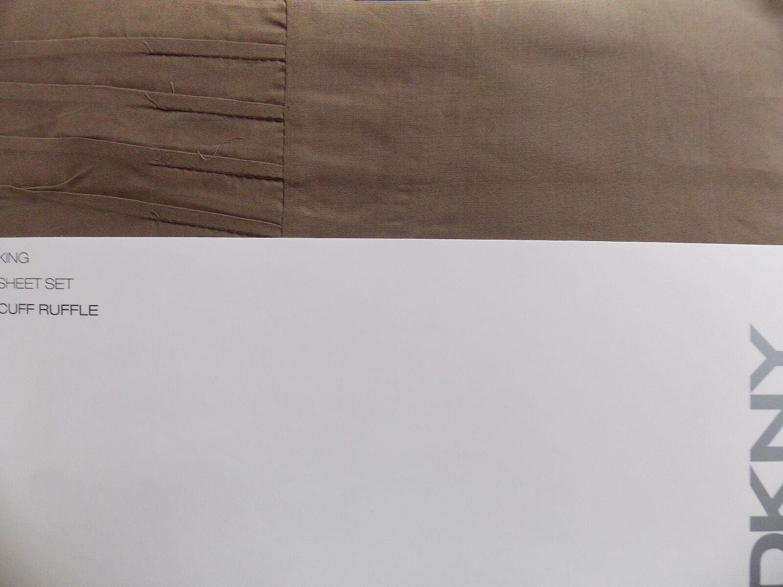 NEW DKNY CUFF RUFFLE CHOCOLATE  Marronee 4 PIECE KING  SHEET SET