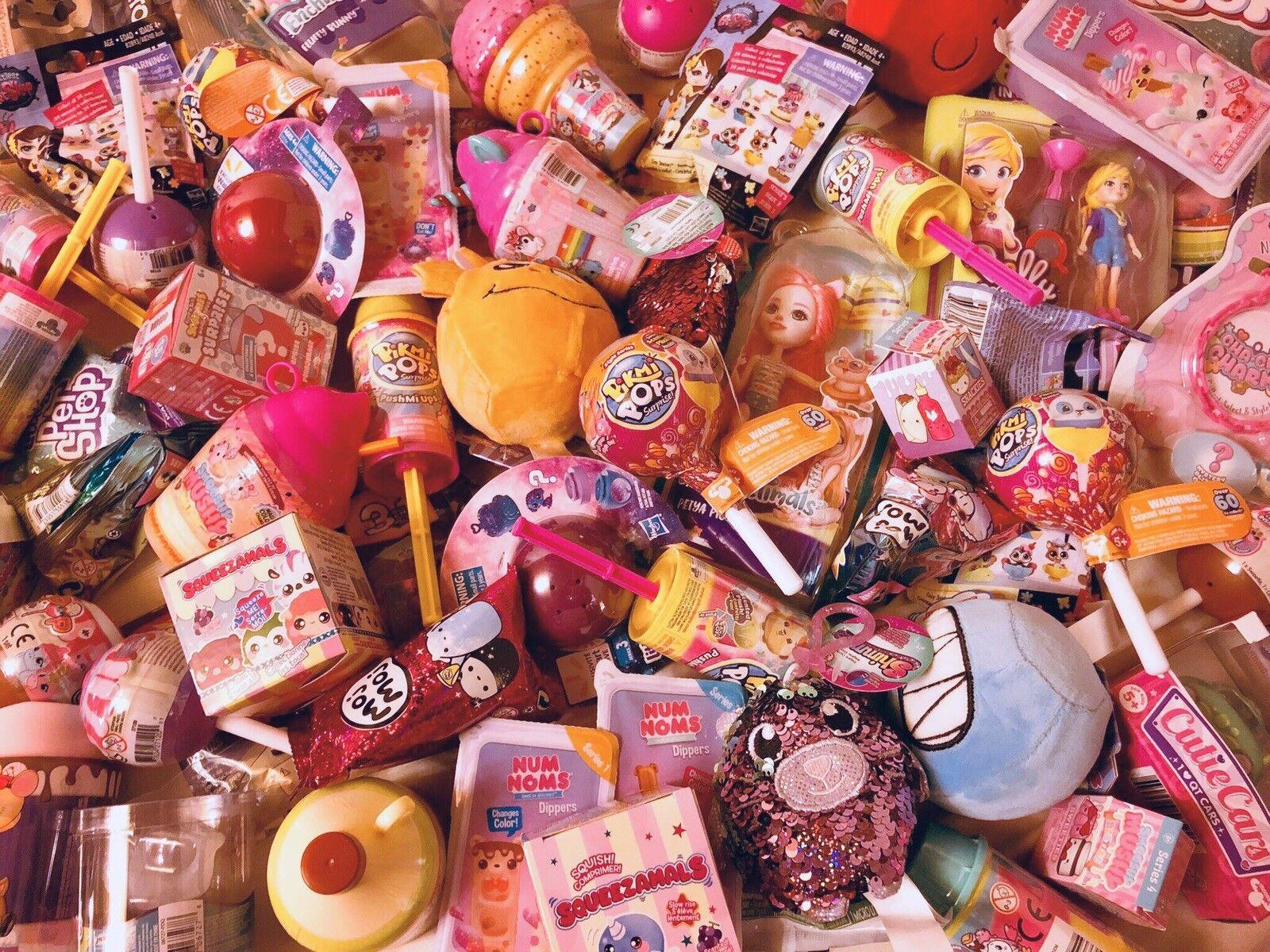 SURPRISE BLIND BAG LOT (6) RANDOM MOJ, NUM NOMS, SQUISHIES, PIKMI POP, LPS, LEGO