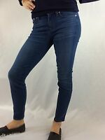 J. Crew Women's Toothpick Blue Skinny Jeans Inseam 27 Silver Buttons Waist 29