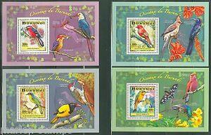 BURUNDI 2014 BEE EATERS ETC BIRDS OF BURUNDI SET SOUVENIR SHEETS MINT NH