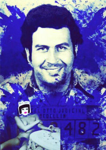 Pablo Escobar Mugshot 100 x 70 Pop Art//StreetArt//Leinwand//Kunstdruck//Bild//Poster