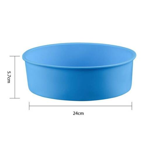 """DlY 6/"""" 8/"""" 9/"""" Round Shape Silicone Cake Pan Baking Bakeware Maker Mould Tools"""