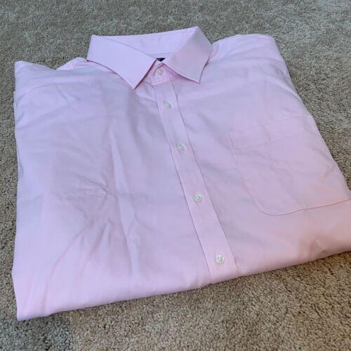NWOT Nordstrom Mens Shop Non Iron Classic Fit Shirt Pink 19 X 35 K6