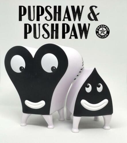 PUPSHAW /& PUSHPAW BLACK /& WHITE EDITION VINYL TOY FIGURE JIM WOODRING PRESS POP