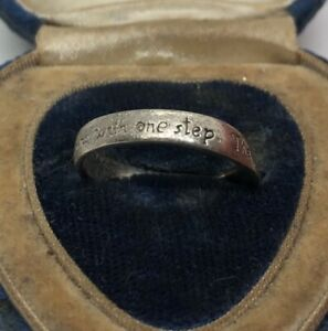 Vintage-Sterling-Silver-Necklace-925-Pendant-Ring-Journey