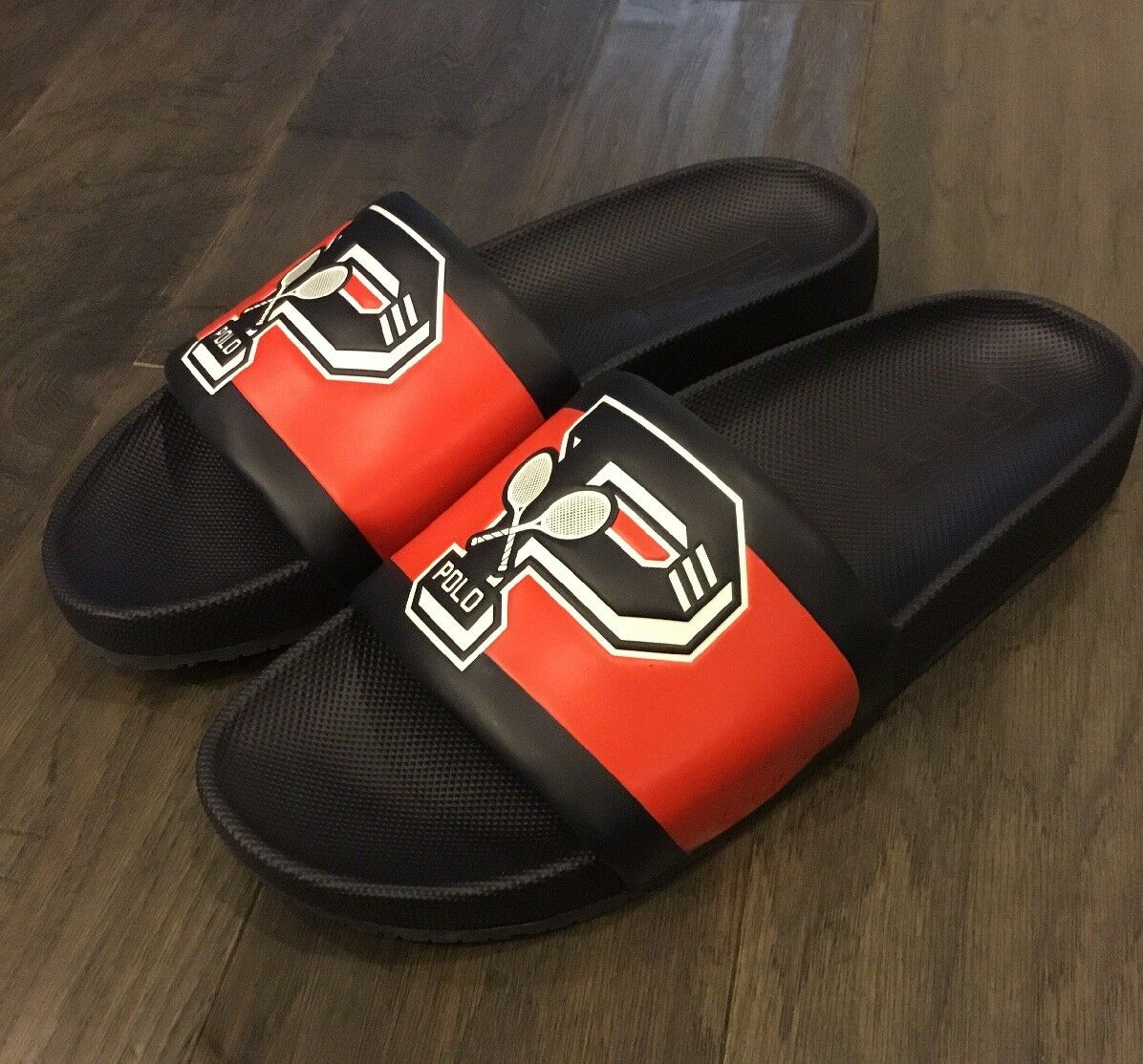 Polo Ralph Lauren US Open Cayson Slide slides shoes new men's sandals Size 9